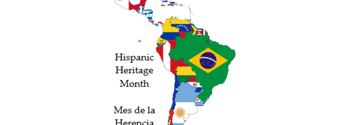 Flag map of Latin America
