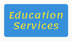 Blue rectangle with yellow letters. Links to 360 Citizens education services.